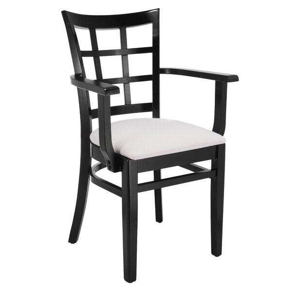 Harner Solid Wood Upholstered Dining Chair by August Grove