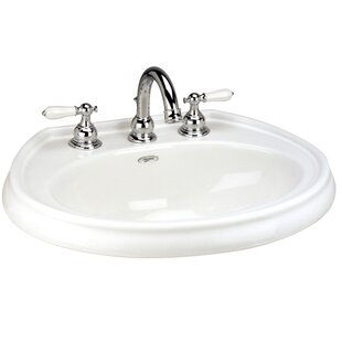 Order Waverly Vitreous China Circular Drop-In Bathroom Sink with Overflow ByMansfield Plumbing Products