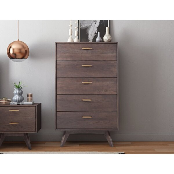 Radcliff Loft Wooden 5 Drawer Chest by Brayden Studio