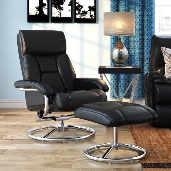 Robles Manual Swivel Recliner with Ottoman by Latitude Run