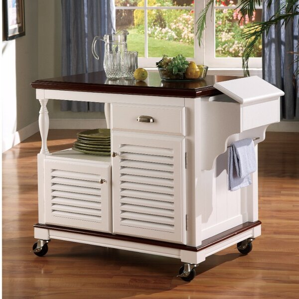 Winstead Sophisticated Kitchen Island with Casters by August Grove