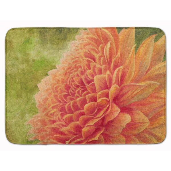by Malenda Trick Rectangle Microfiber Non-Slip Floral Bath Rug