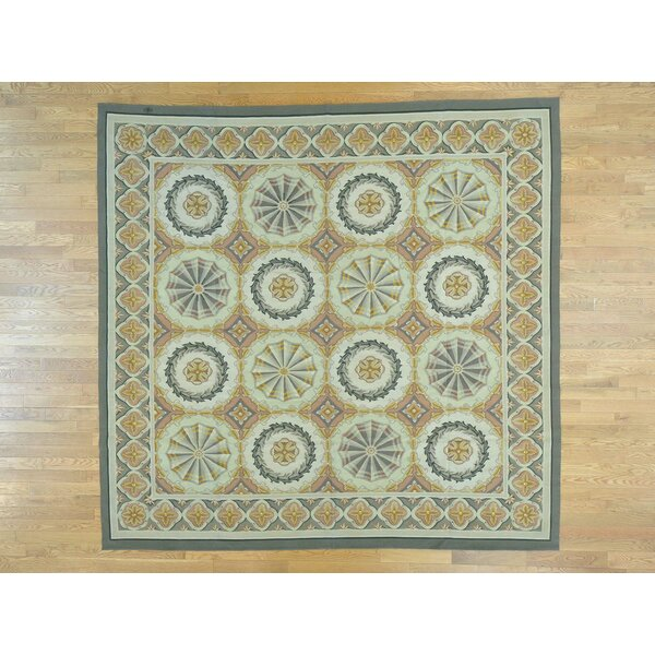 One-of-a-Kind Besser Neo Classic Design Handwoven Wool Area Rug by Isabelline