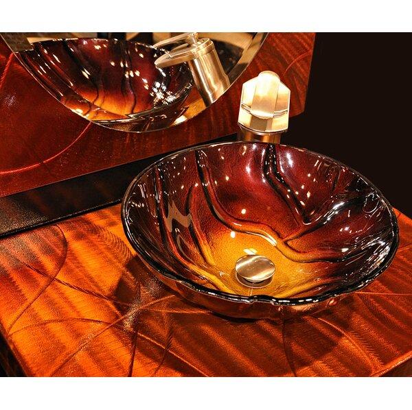 Rovente Glass Circular Vessel Bathroom Sink by Novatto