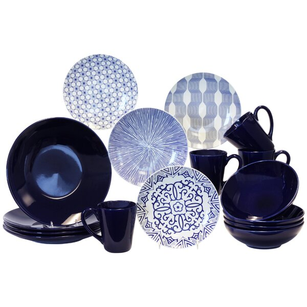 16 Piece Dinnerware Set, Service for 4 by Baum