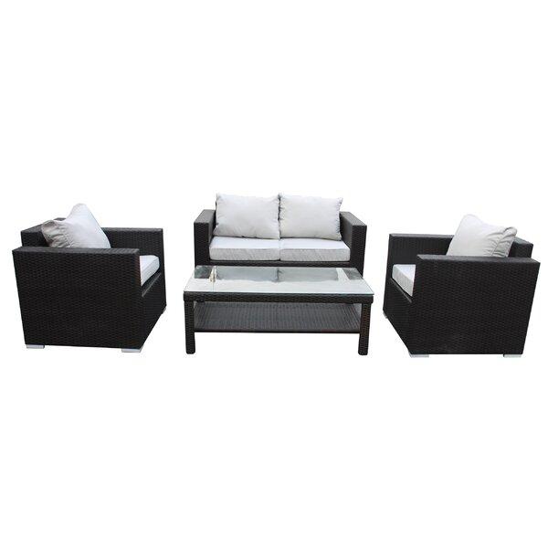 Pari 4 Piece Sofa Set with Cushions by Brayden Studio