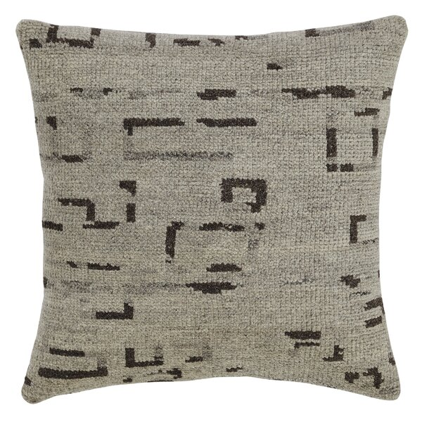 Landa Wool Throw Pillow by Latitude Run