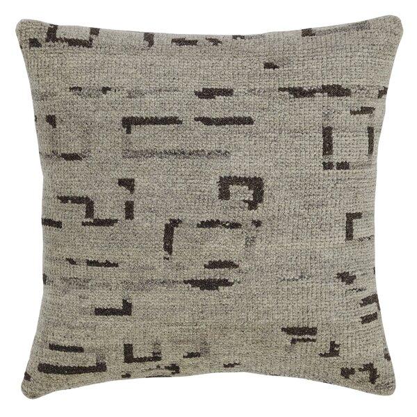 Landa Wool Throw Pillow by Latitude Run