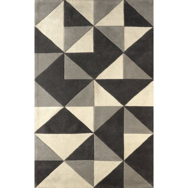 Lueras Hand-Tufted Platinum/Ivory Area Rug by Brayden Studio