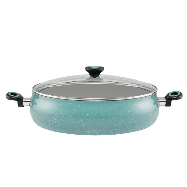 10 qt. Riverbend Aluminum Non-Stick Covered Saute Pan with Lid by Paula Deen