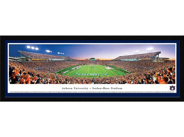 NCAA Auburn University - End Zone by James Blakeway Framed Photographic Print by Blakeway Worldwide Panoramas, Inc