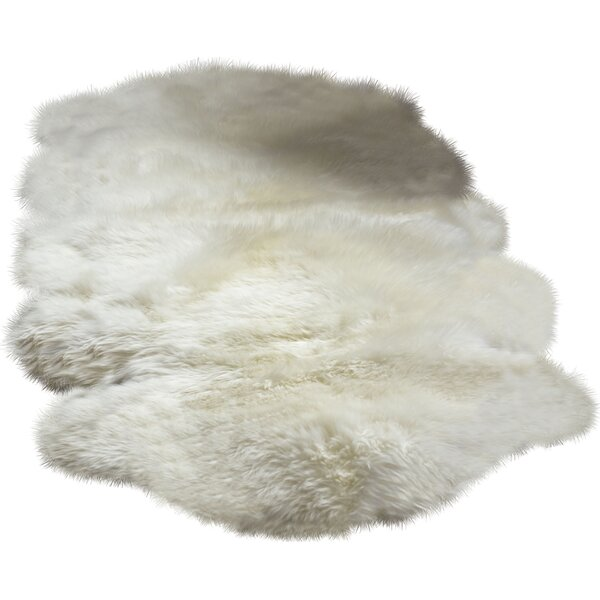 Machin Handmade Shag Sheepskin Ivory Area Rug by Union Rustic