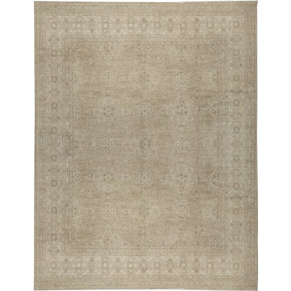 One-of-a-Kind Hand-Knotted Beige 11'9 x 14'10 Area Rug