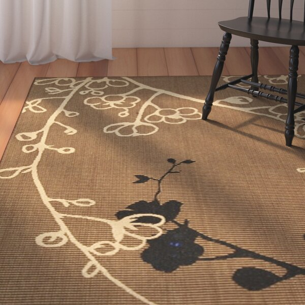 Laurel Brown Natural/Black Outdoor Rug by August Grove