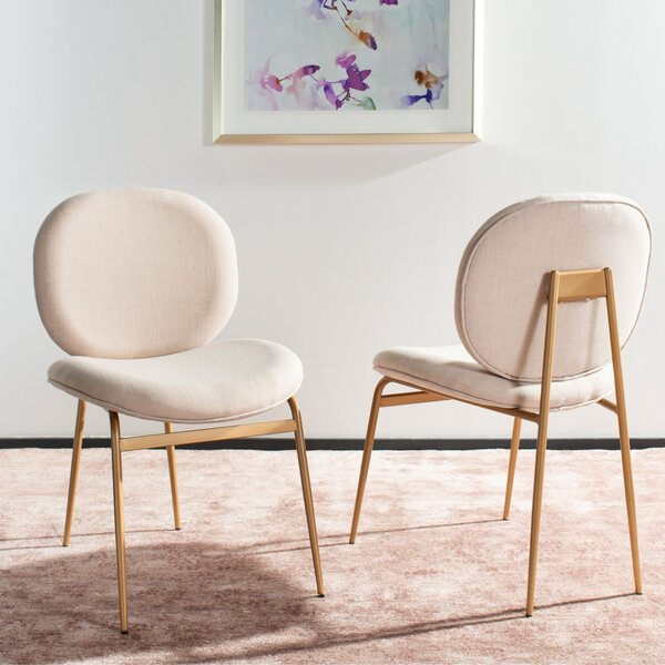 Vilonia Upholstered Dining Chair (Set of 2) by Everly Quinn