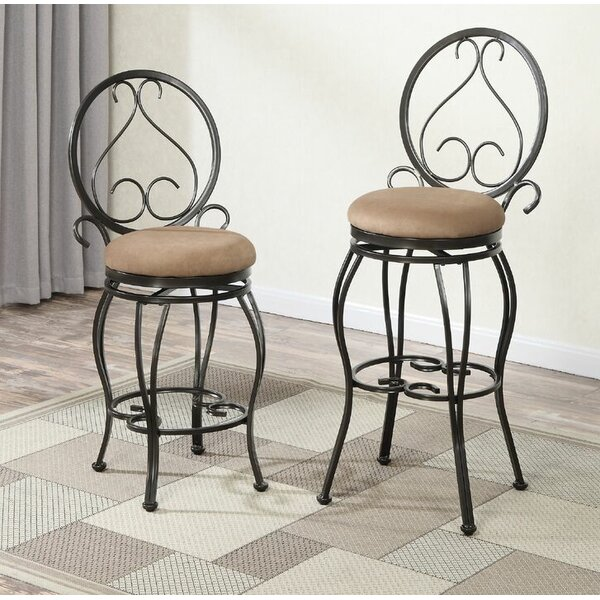 Bentley 29 Swivel Bar Stool (Set of 2) by Fleur De Lis Living