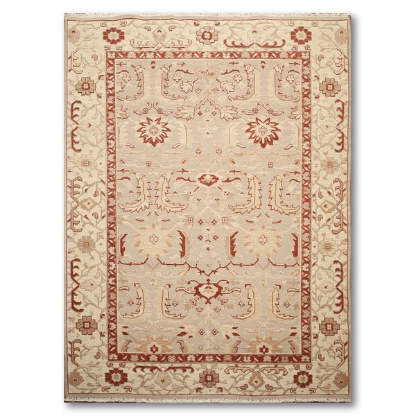 One-of-a-Kind Hameldon Hand-Knotted Wool Beige/Ivory Area Rug by Canora Grey