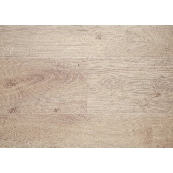 Olympic 8 x 72 x 12mm Oak Laminate Flooring in Beige by Chic Rugz