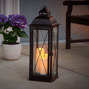 Traditional Metal Lantern By Three Posts Outdoor Lighting