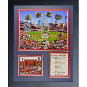 St. Louis Cardinals World Series Rings and Championships Framed Memorabilia by Legends Never Die