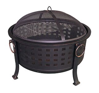 Basket Weave Steel Wood Burning Fire Pit by Backyard Expressions