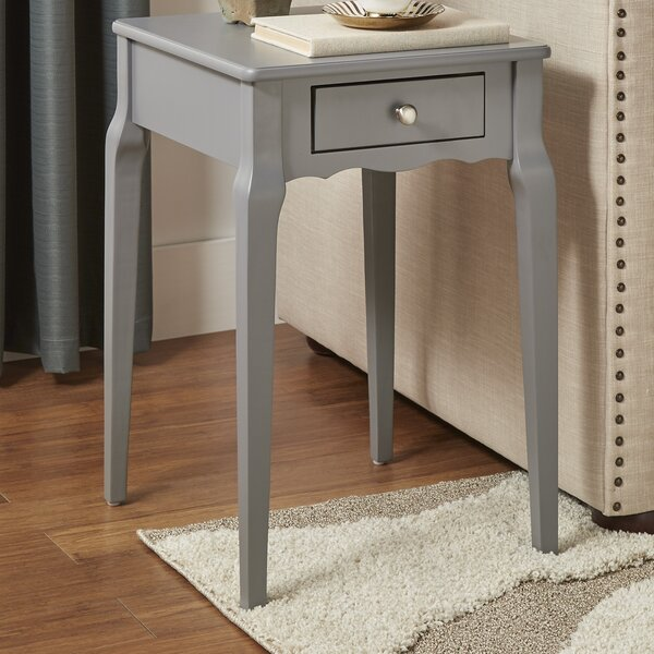 Pinckney End Table With Storage  by Three Posts