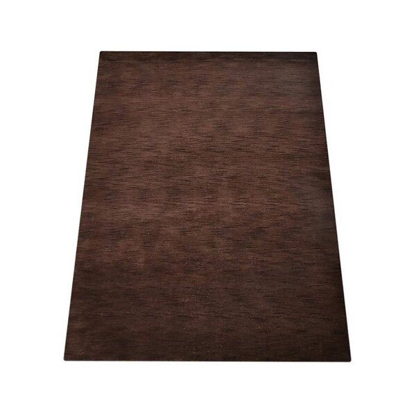 Riggio Hand-Knotted Wool Brown Area Rug by Orren Ellis