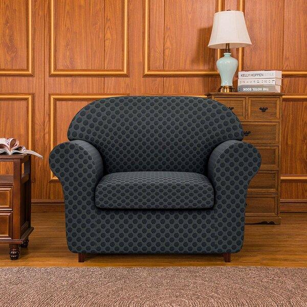2 Piece Box Cushion Armchair Slipcover Set By Subrtex