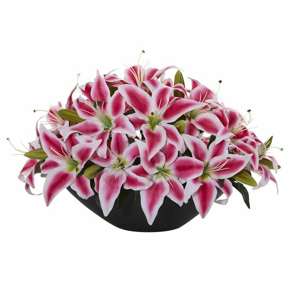 Lily Centerpiece Artificial Floral Arrangement by Bloomsbury Market