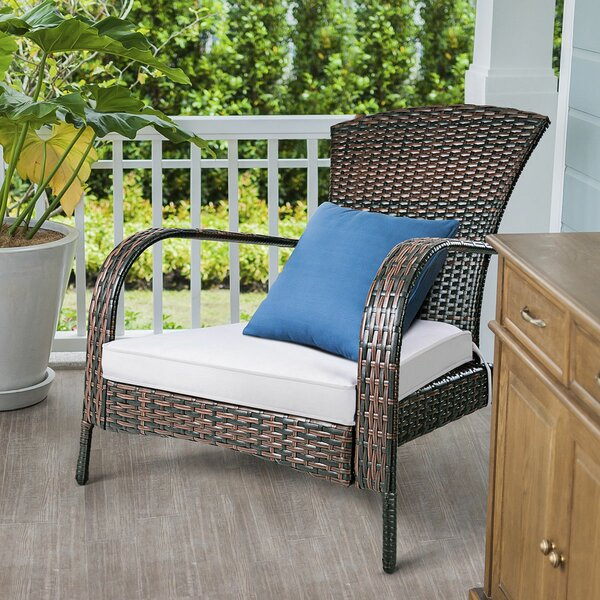 Gandara Outdoor Rattan Lightweight Adirondack Chair by Charlton Home Charlton Home