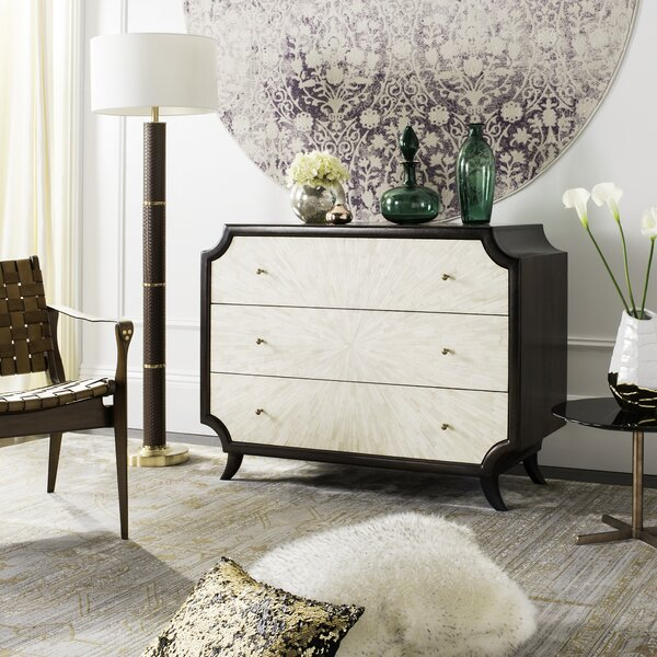Risa Wood 3 Drawer Dresser by Everly Quinn
