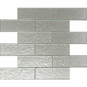 Cartagena 2 x 6 Glass Field Tile in Pearl by Vetromani