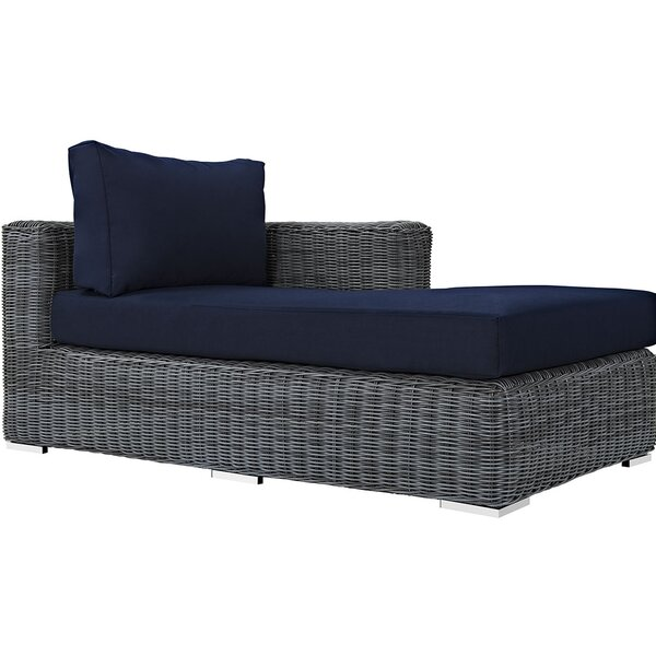 Keiran Right Arm Chaise Sectional Piece with Cushions by Brayden Studio