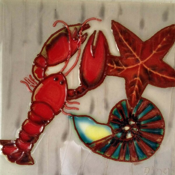 Lobster Tile Wall Decor by Continental Art Center