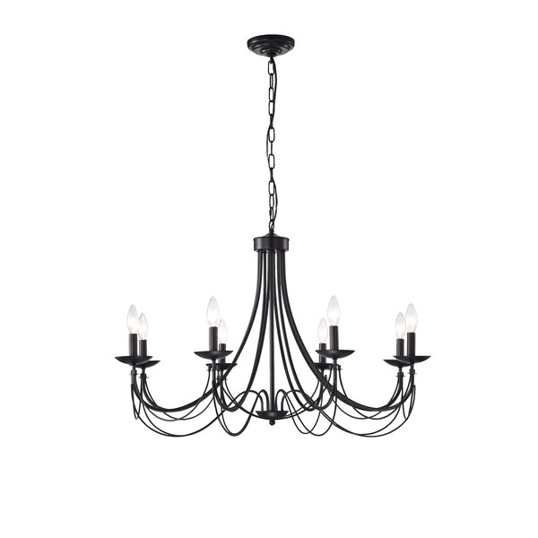 Rikard 8 - Light Candle Style Classic / Traditional Chandelier by Gracie Oaks Gracie Oaks