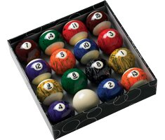 Action Billiard Balls Black Marble Balls by Action