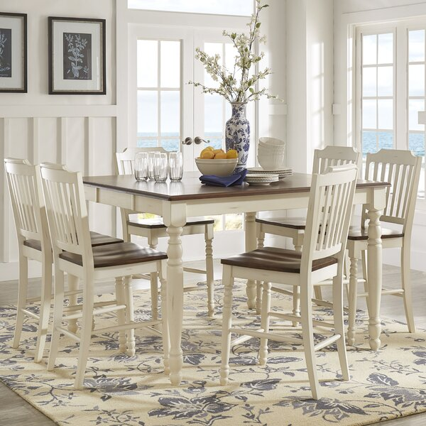 Itchington 7 Piece Solid Wood Dining Set by Three Posts