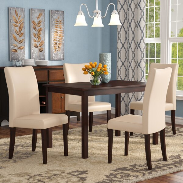 Evendale 5 Piece Solid Wood Dining Set by Red Barrel Studio
