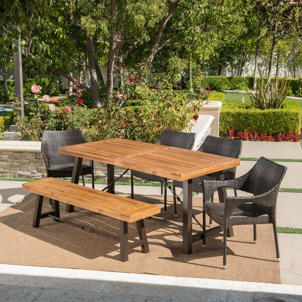 Pokorny Outdoor 6 Piece Dining Set by 17 Stories