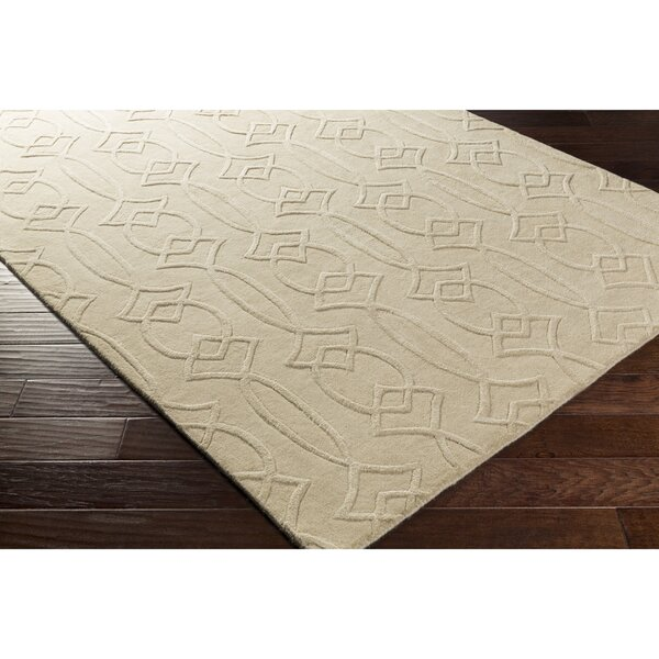 Pamela Hand-Tufted Rectangle Neutral Area Rug by Winston Porter
