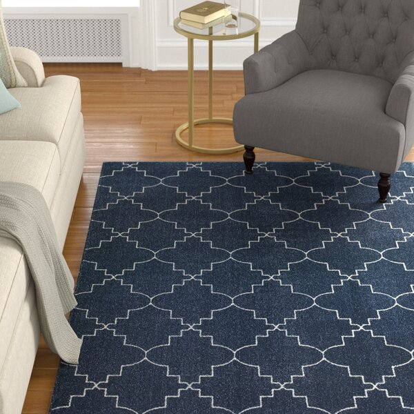 Allen Navy/Ivory Area Rug by Alcott Hill