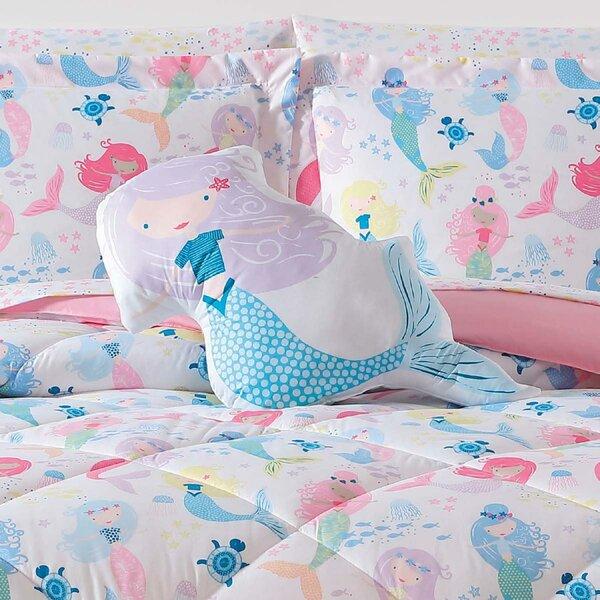 Champney Mermaids Throw Pillow by Harriet Bee