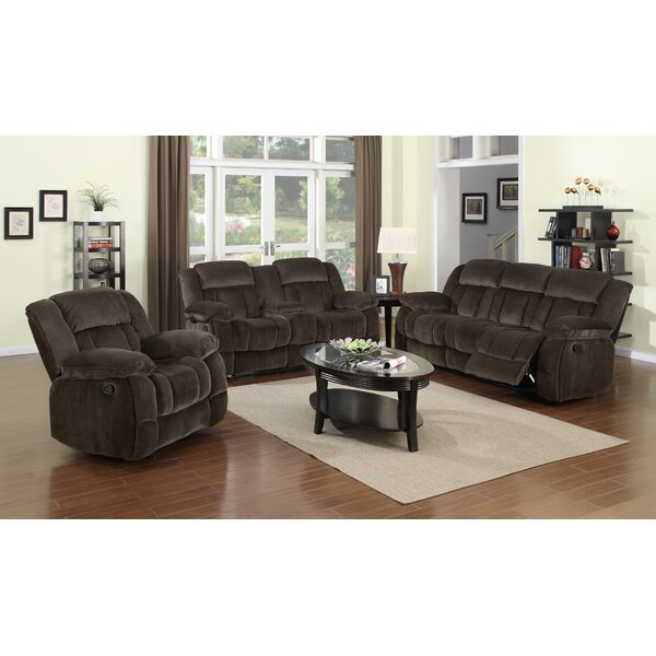 Teddy Bear Reclining  3 Piece Living Room Set by Sunset Trading