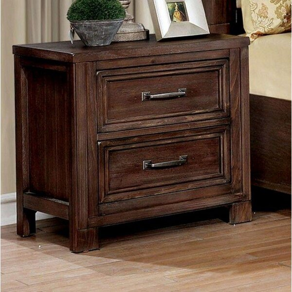 Caitlyn 2 Drawer Nightstand by Rosalind Wheeler
