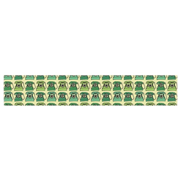 Holly Helgeson Vintage Telephone Pattern Table Runner by East Urban Home