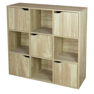 Wood Storage 9 Cube Bookcase