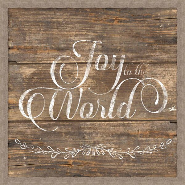 Rustic Joy to the World Framed Textual Art by PTM Images
