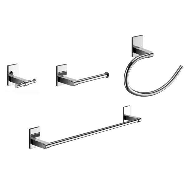 Maine 4 Piece Bathroom Hardware Set by Gedy by Nameeks