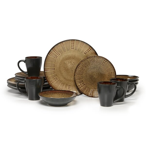 Linden 16 Piece Dinnerware Set, Service for 4 by Gourmet Basics by Mikasa