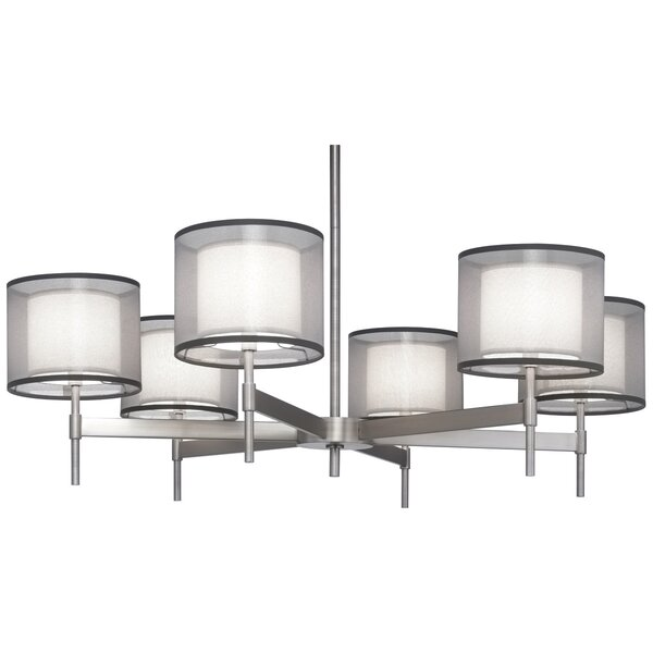 Saturnia 6 - Light Shaded Tiered Chandelier By Robert Abbey